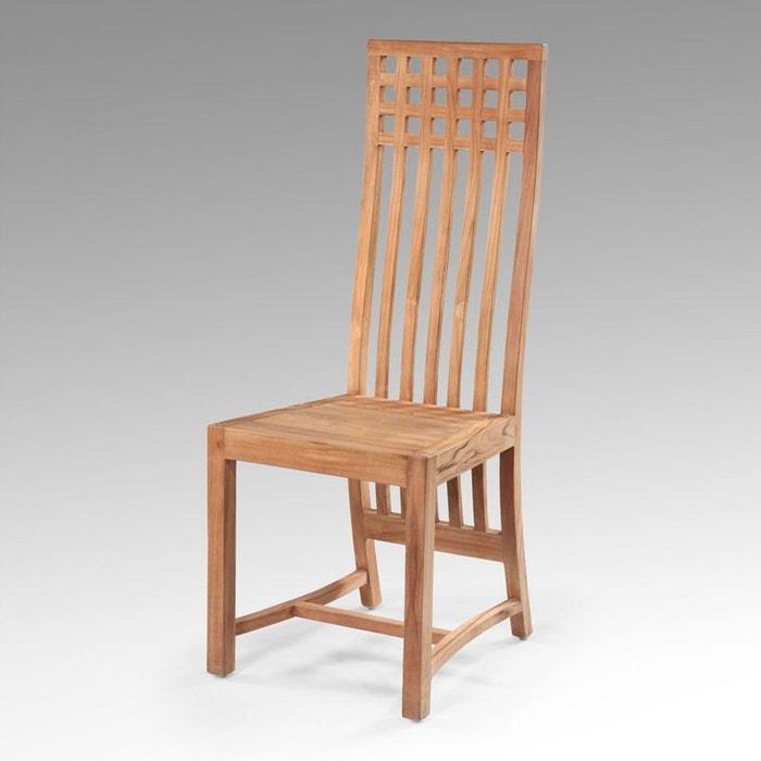 chaise en teck massif lexy couleur unique kha home design la redoute. Black Bedroom Furniture Sets. Home Design Ideas