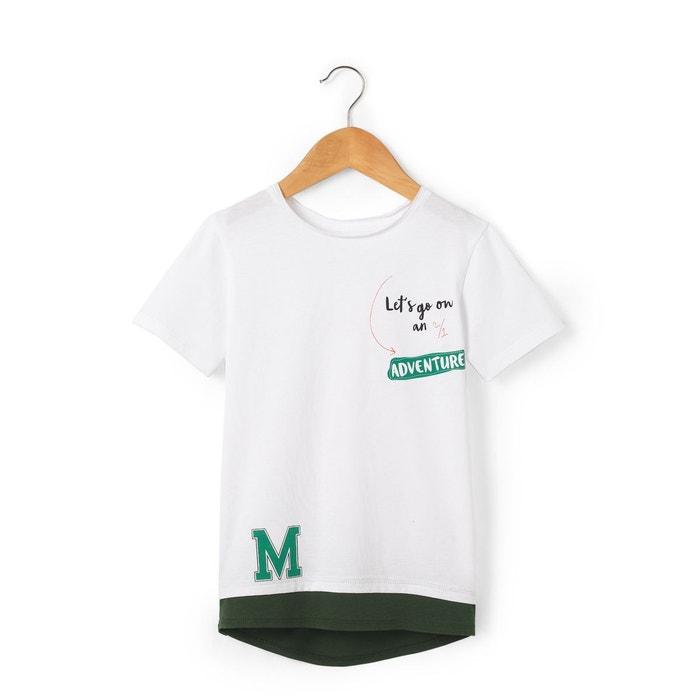 T-shirt imprimé dos rallongé 3-12 ans