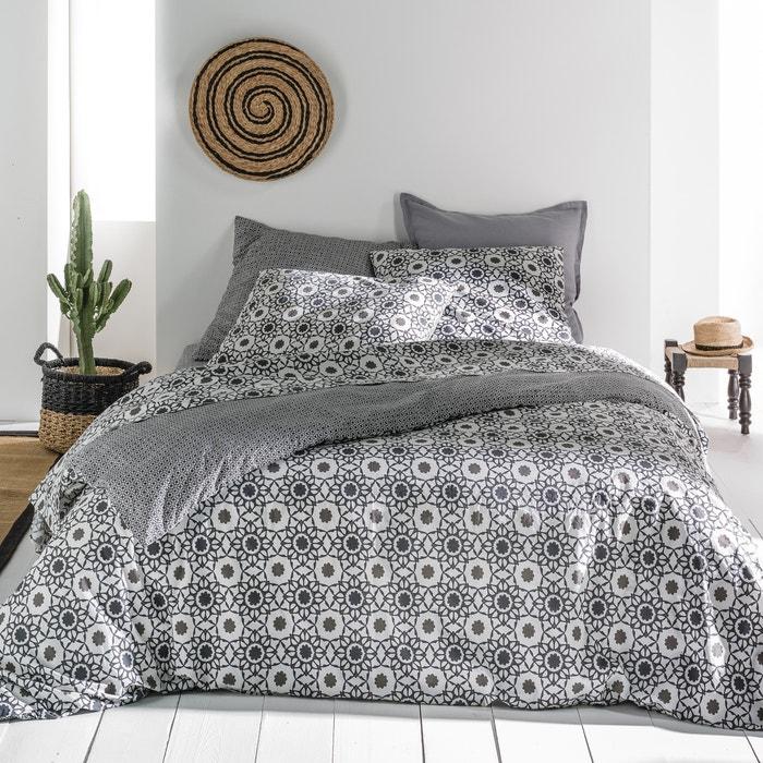 AXELLA Floral Tile Print Cotton Percale Duvet Cover  La Redoute Interieurs image 0