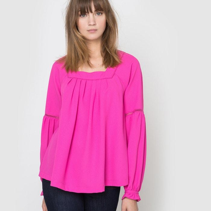 Image Folk blouse met vierkante hals R studio