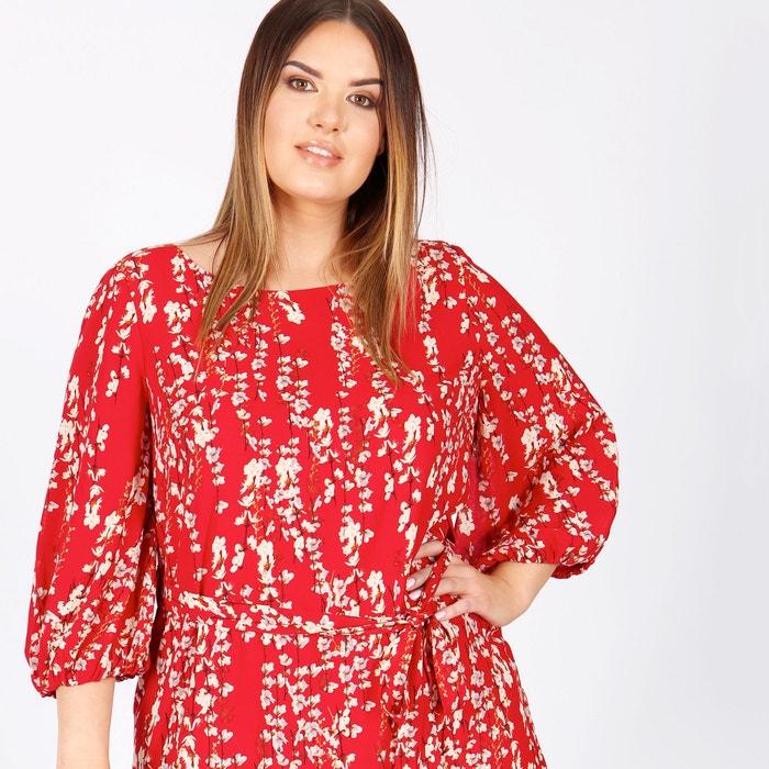 Halblanges Kleid, Blumenmuster, gerade Form  KOKO BY KOKO image 0