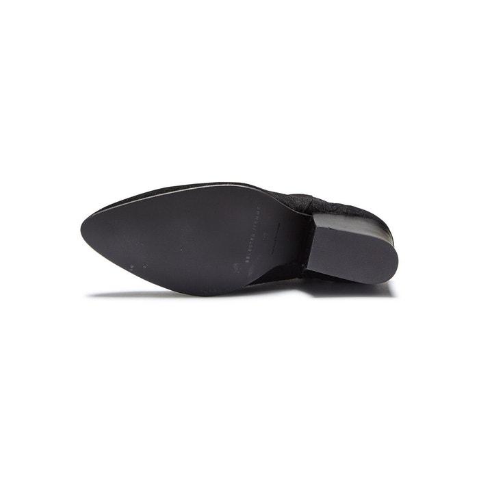 Bottes en cuir crocodile - black Selected Femme