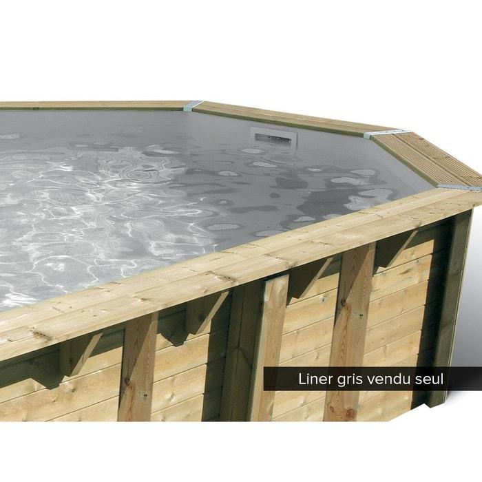 Liner seul pour piscine bois oc a 5 80 x 1 30 m gris couleur unique ubbink la redoute for Piscine la redoute