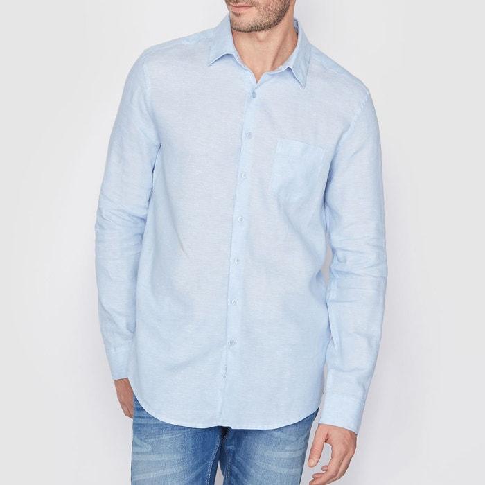 Chemise coupe droite 100% lin R essentiel