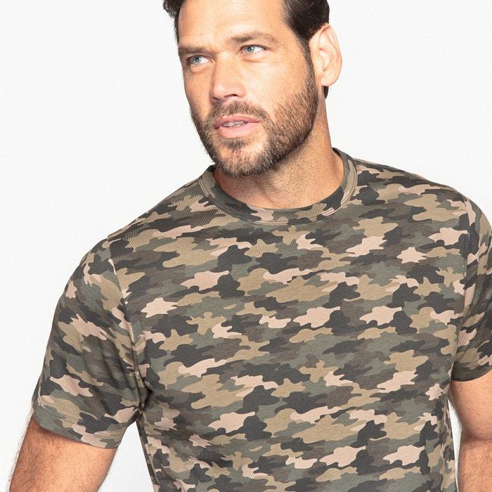 de estampado cuello con camuflaje CASTALUNA Camiseta FOR redondo MEN 01II6Pnt