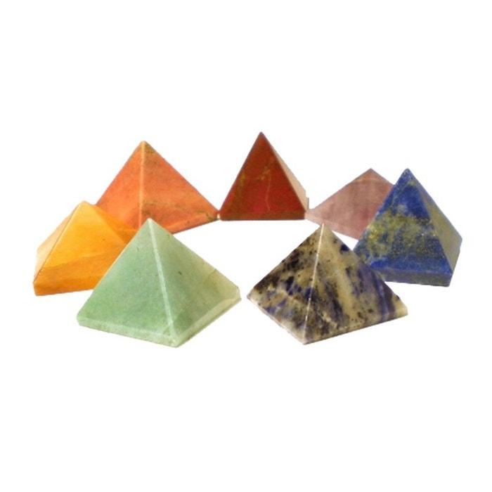 Avec Paypal Meilleure Vente Vendeur En Ligne Ensemble de 7 pierres pyramidales Visite Discount Neuf 65PkO