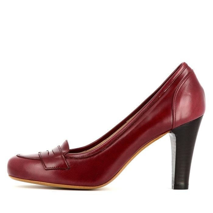 Escarpins femme rouge foncé Evita
