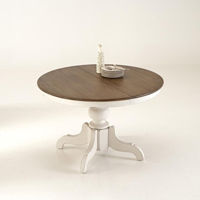 Eulali Extendable Oak Pine Dining Table Seats 4 8 Ivory La Redoute Interieurs La Redoute