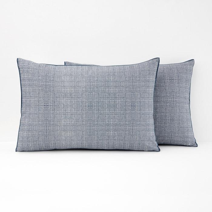 ETAMINE Check Print Cotton Pillowcase  La Redoute Interieurs image 0