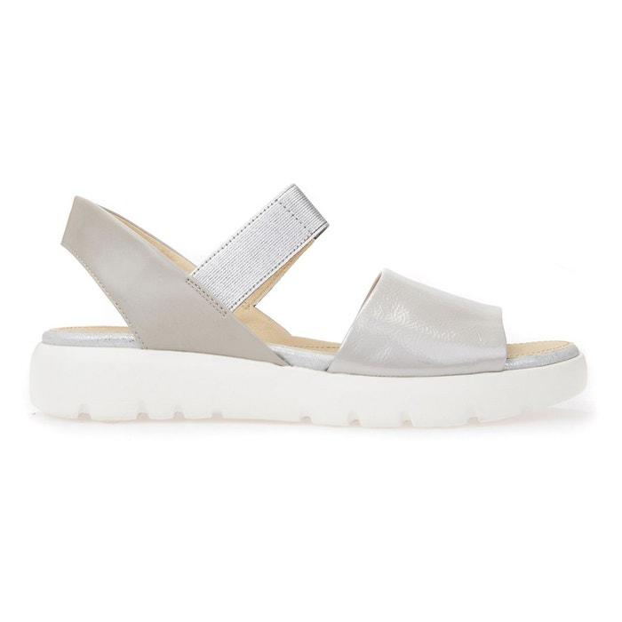 Sandales d amalitha f   gris Geox   La Redoute