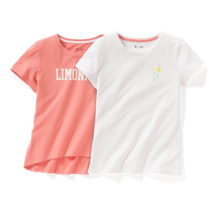 afbeelding Set van bedrukte T-shirts met ronde hals La Redoute Collections