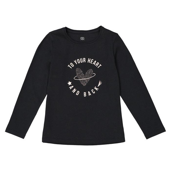 T-shirt met lange mouwen en hart, 3-12 jaar  La Redoute Collections image 0