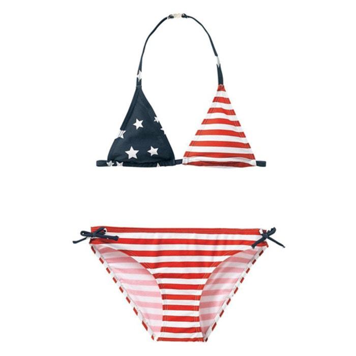 0f16c3581 Bikini estampado bandera eua 10-16 años rayas rojo estampado estrella La  Redoute Collections