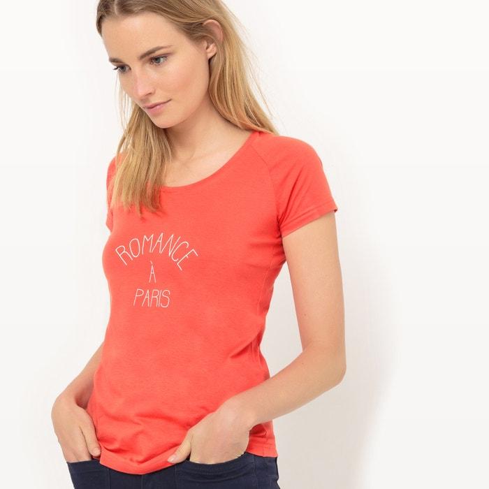 afbeelding T-shirt met tekst La Redoute Collections