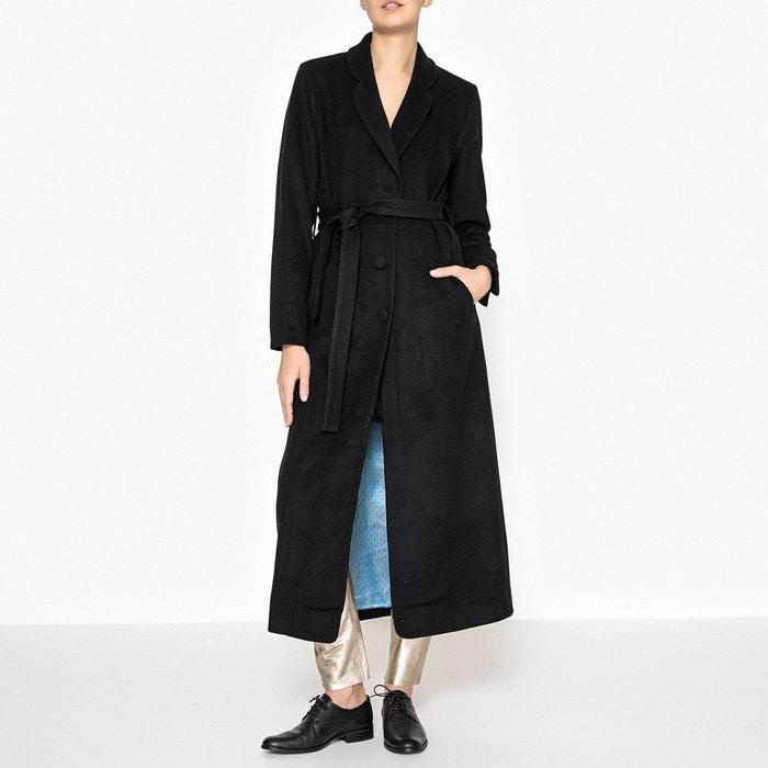 manteau long avec ceinture hermann navy mes demoiselles la redoute. Black Bedroom Furniture Sets. Home Design Ideas