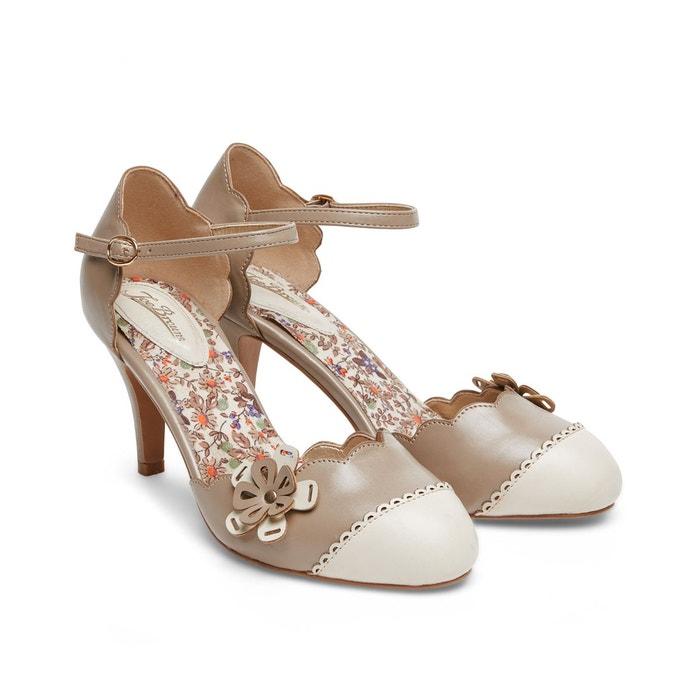 Chaussures à bride de cheville style vintage avec fleur décorative joe browns femme marron Joe Browns