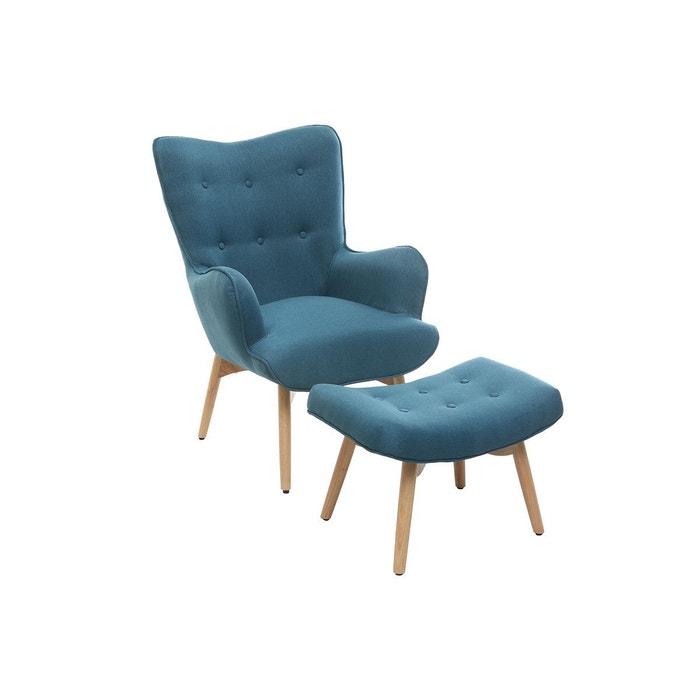 fauteuil design scandinave son repose pied bois bristol