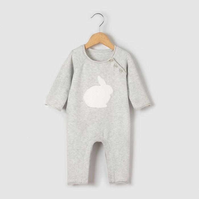 """Combinaison tricot """"lapin"""" 0 mois-2 ans"""