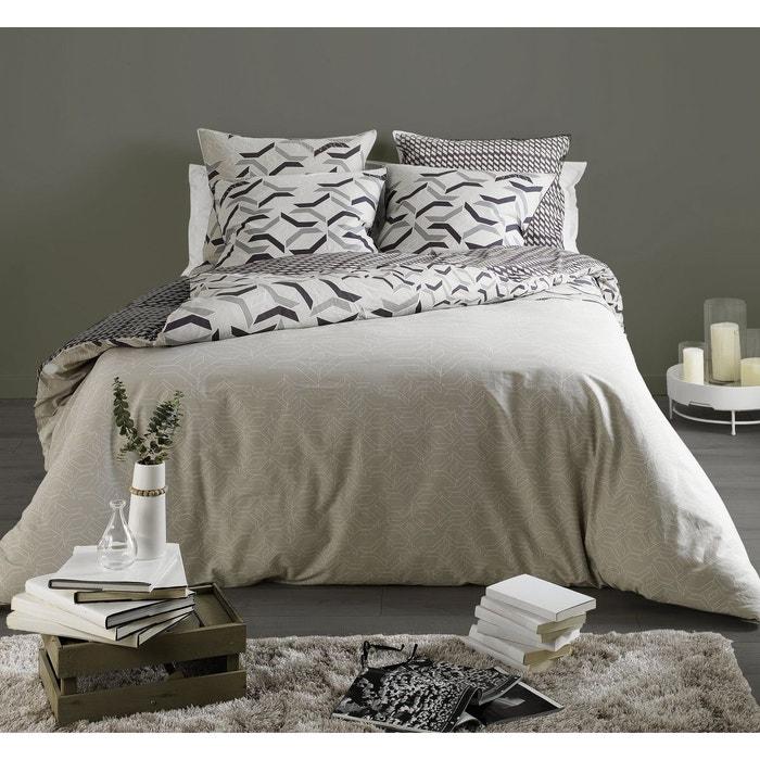 parure de lit harmonie beige c design home textile la redoute. Black Bedroom Furniture Sets. Home Design Ideas