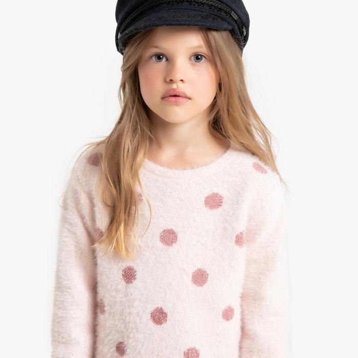 Trui in behaard tricot met stippen vooraan,  3-12 jaar  LA REDOUTE COLLECTIONS image 0