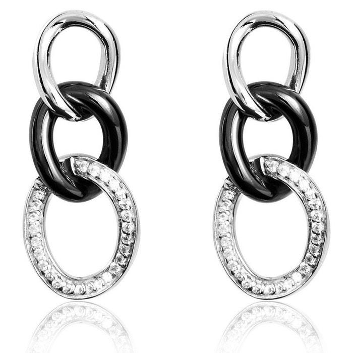 Boucles d'oreilles argent blanc Histoire D'or | La Redoute Originale Sortie Clairance Excellente Amazon Pas Cher En Ligne kzjVFq1b8