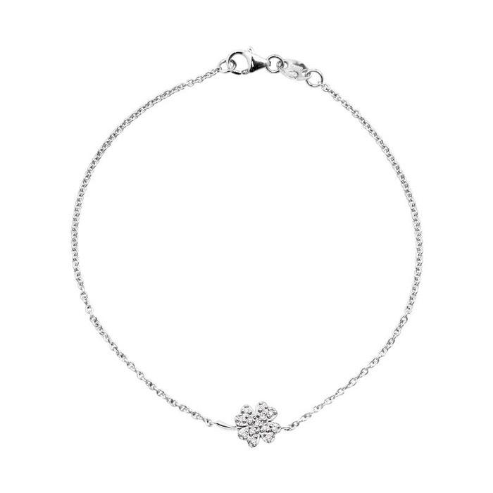 Bracelet diamants motif trefle