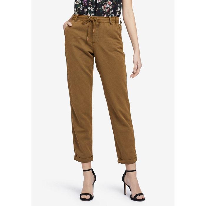 b192a071a40d7c Pantalon avec taille élastique et ourlet sur le revers ROSSA
