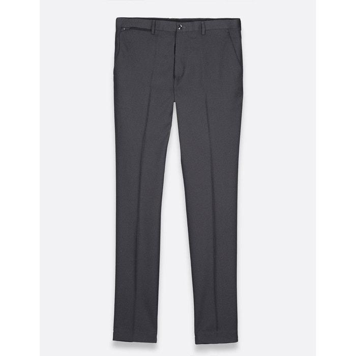 Pantalon costume slim motifs jacquard gris Brice   La Redoute 344f90a66c0