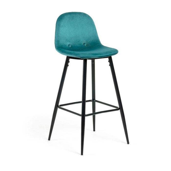 De Tabouret Velours Bar Turquoise Nolite Okn80Pw