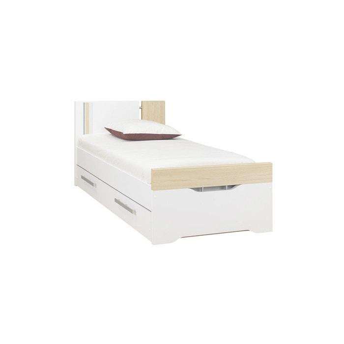 lit enfant bora 90x190 cm blanc ma chambre d 39 enfant la. Black Bedroom Furniture Sets. Home Design Ideas