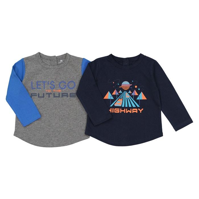 Комплект из 2 футболок с длинными рукавами, 1 мес. - 3 года  La Redoute Collections image 0