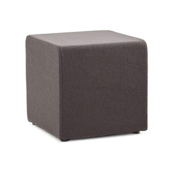 Pouf cubique multi fonction gris anthracite feli 43 x 43 cm gris fonc declik - Pouf gris anthracite ...