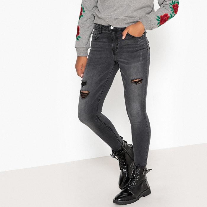 Jeans skinny strappati 10 - 16 anni  La Redoute Collections image 0