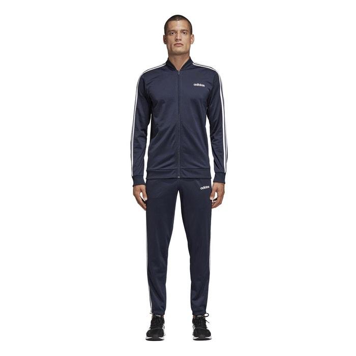907de453511b3 Survêtement zippé à capuche b2bas 3-stripes bleu marine Adidas Performance  | La Redoute