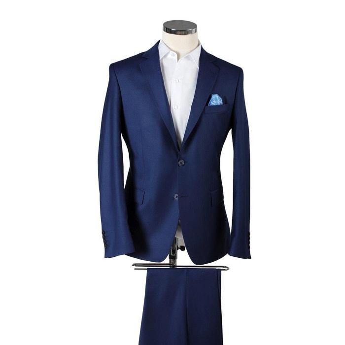 df8c79239836 Costume homme napoli modern fit laine viscose bleu marine Versace 19.69    La Redoute