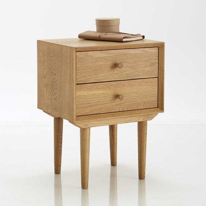 Chevet vintage quilda bois clair ch ne la redoute - Table chevet la redoute ...