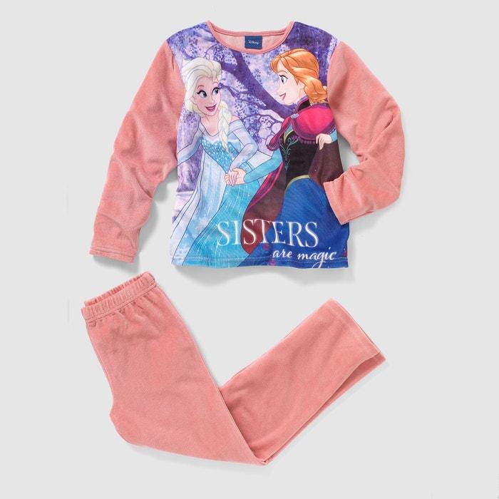 Image Pyjama velours LA REINE DES NEIGES, 2 - 10 ans LA REINE DES NEIGES