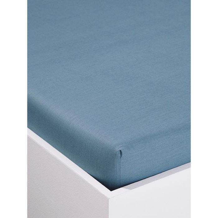 Drap housse stripes stars bleu moyen uni cyrillus la for Draps housse la redoute