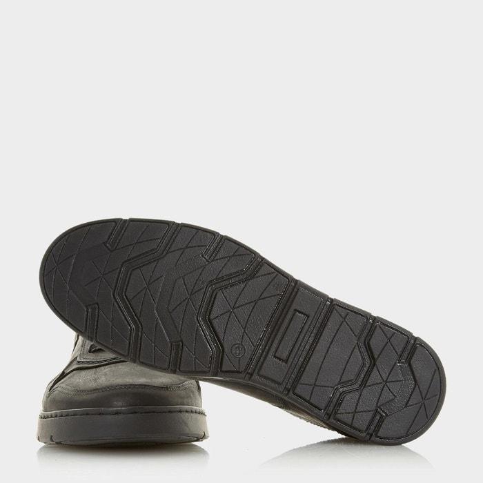 Baskets montantes avec col rembourré - spangler noir cuir Dune London