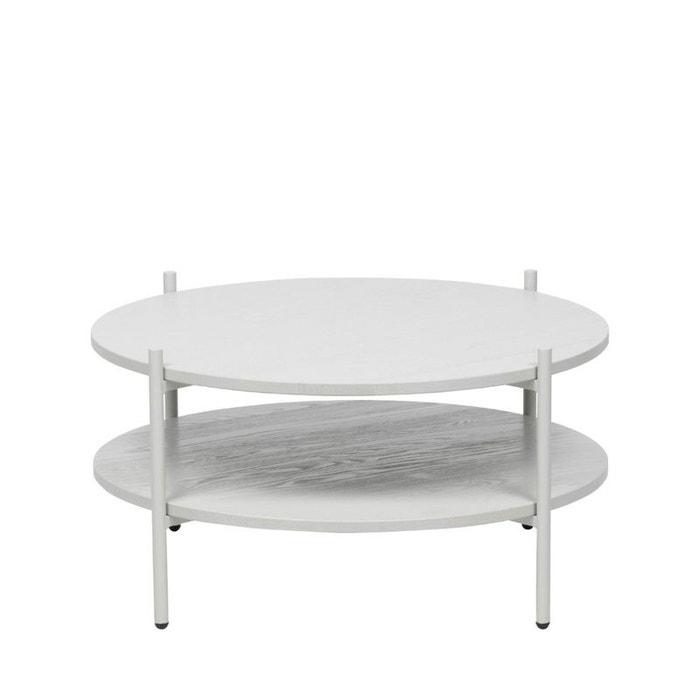 Tender Table Basse Ronde En Bois Et Metal Blanc Woood La Redoute