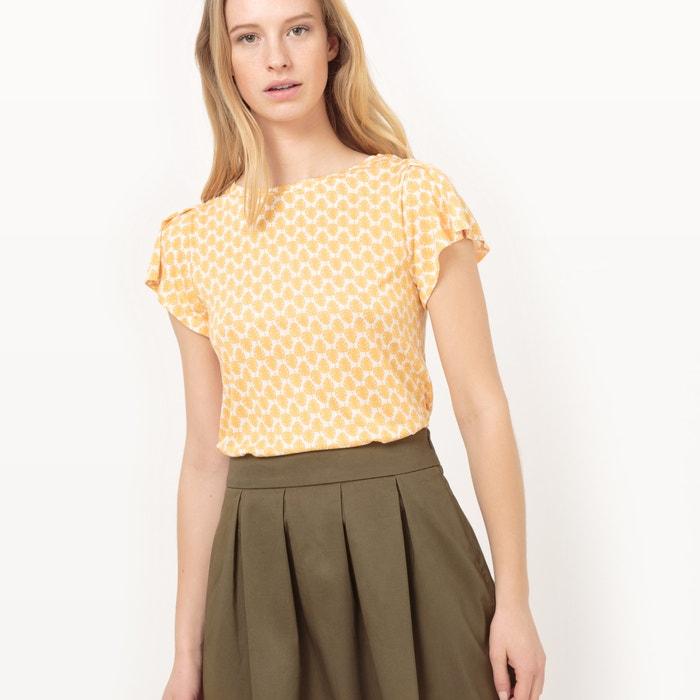 afbeelding T-shirt met bloemenprint en mouwen met volants R édition