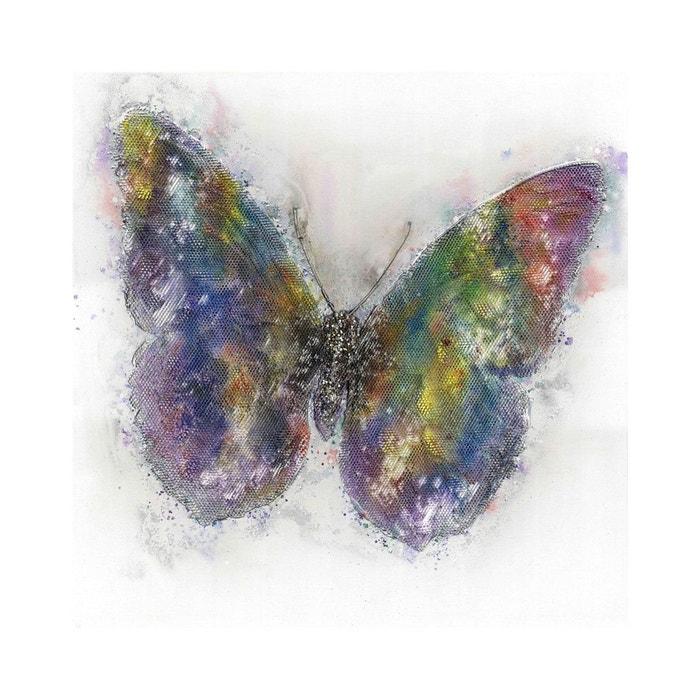 Peinture murale huile papillon 80cm x 80cm arte espina image 0