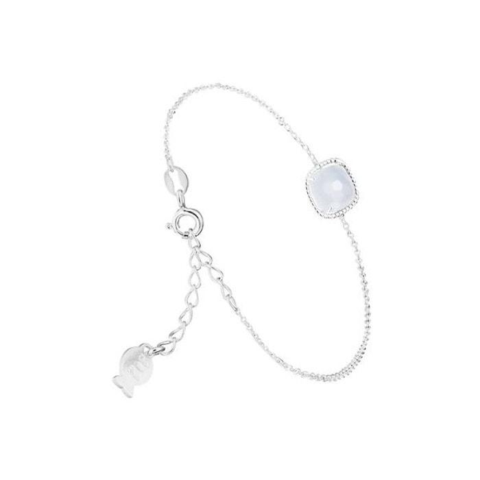 Bracelet chaîne sissi en argent 925, calcédoine, 1.3g bleu Clio Blue | La Redoute