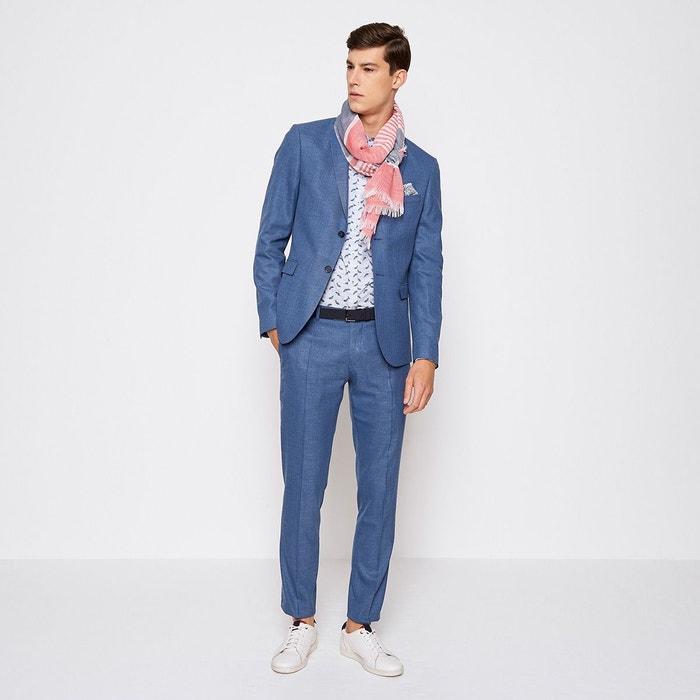 Veste de costume nattée homme bleu ciel Devred   La Redoute de44f954ae9c