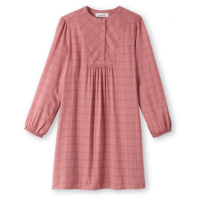 afbeelding Wijduitlopende geruite jurk La Redoute Collections