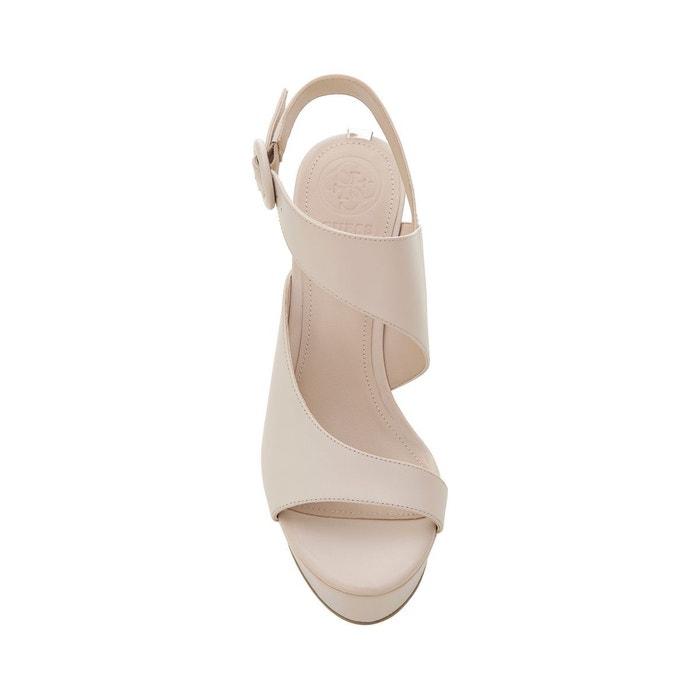 Sandales makenna cuir beige Guess