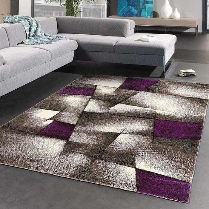 Tapis de salon moderne design parlak 3d - polypropylène violet ...
