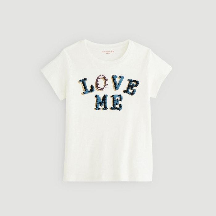 d71a2e8c5b5b9 T-shirt manches courtes imprimé beige Monoprix Kids