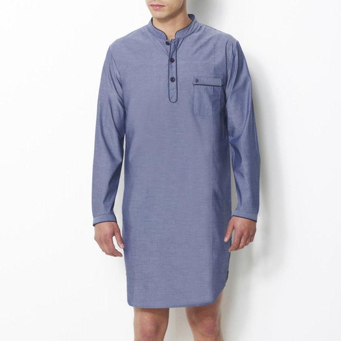 MECÈNE Striped Cotton Poplin Nightshirt