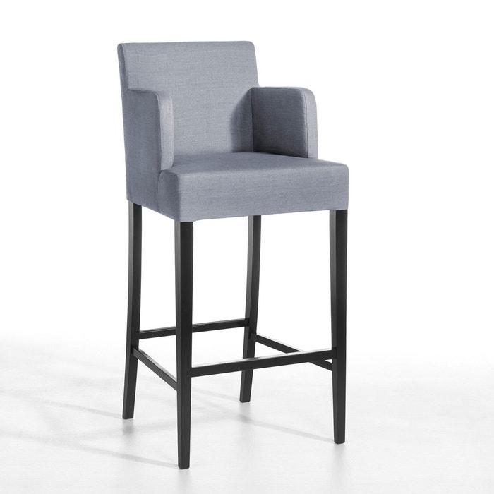 Chaise de bar Victor, lin lavé